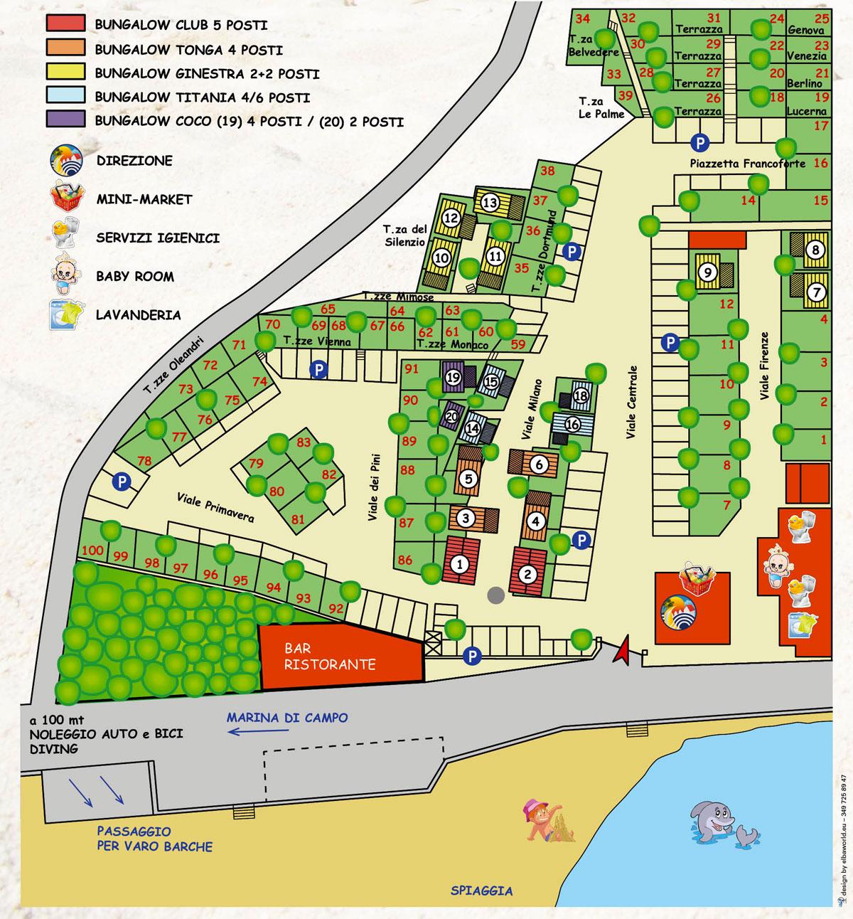 Mappa Camping La Foce