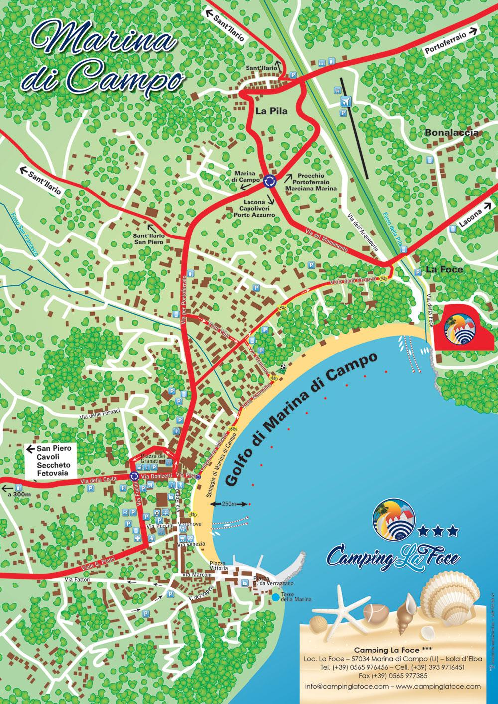 Mappa Marina di Campo
